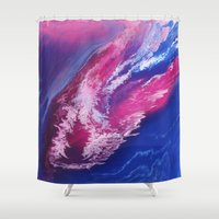 passion Shower Curtains featuring Passion by Lise Dumas Richard