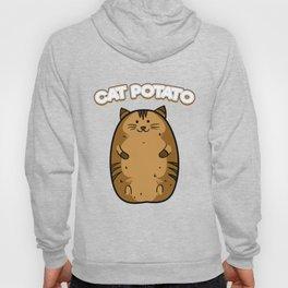 Cat Potato Funny Cute Fat Potato Feline Animal Hoody