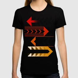 Colourful Arrows Graphic Art Design T-shirt