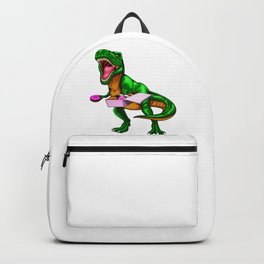 Dinosaur T Rex Donuts Backpack