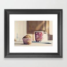 Sweet moment Framed Art Print
