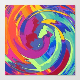 Spirale about fox and taile Canvas Print