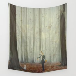 Fox and rabbit Wall Tapestry
