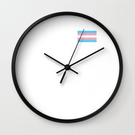 Gay Pride LGBT Transgender Rainbow Stripe Flag design Wall Clock