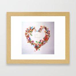 Love is all around Framed Art Print