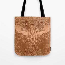 Sepia Ganesha Tote Bag