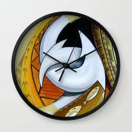Fish Hooks Wall Clock