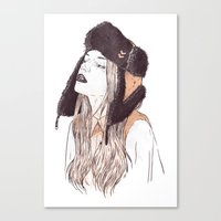 russian Canvas Prints featuring Russian by Lola Beltrán