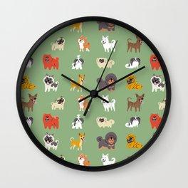 ASIAN DOGS Wall Clock