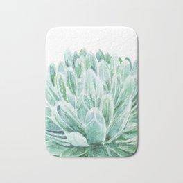 Watercolor cactus print Bath Mat