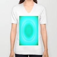 aqua V-neck T-shirts featuring aqua. by Simply Chic