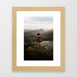 "Sunrise on top of ""Kleiner Winterberg"" in Saxon Switzerland/Germany Framed Art Print"