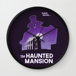 Hatbox Ghost - Land Wall Clock