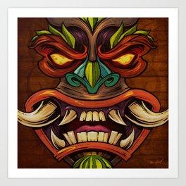 Tiki Head Style 4 Art Print