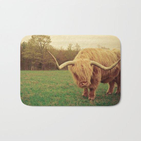 Scottish Highland Steer - regular version Bath Mat