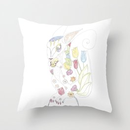 the evil Squirel will eat you Throw Pillow
