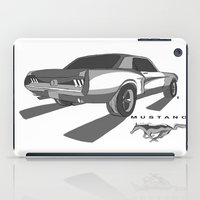 mustang iPad Cases featuring Mustang by Mister Abigail