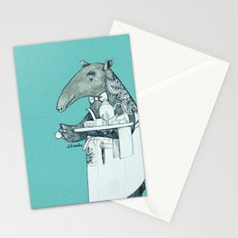 Tea time starts now - Malayan Tapir - Bule Stationery Cards