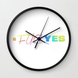 #FuckYes | Rainbow Series | Pop Art Wall Clock