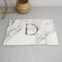 Monogram rose gold marble D Rug
