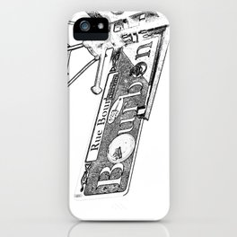 Sign of Bourbon Street  iPhone Case