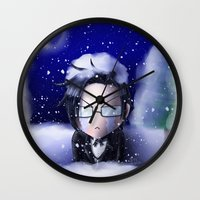 kuroshitsuji Wall Clocks featuring If You're Cold, They're Cold by Falln