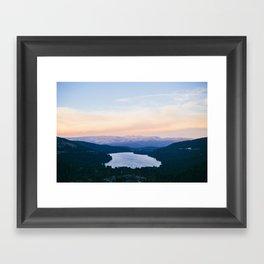 Donner Lake // California Framed Art Print