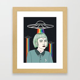 Alien Girl Framed Art Print