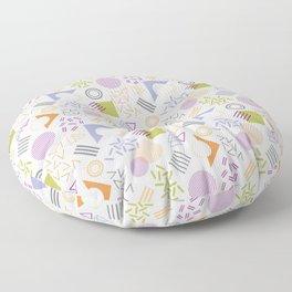 Memphis Pattern -Autumn Colors Floor Pillow