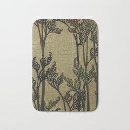 Vintage Curled Leaf Bath Mat