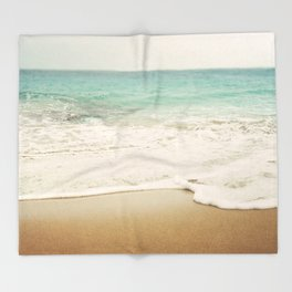 Ombre Beach Throw Blanket