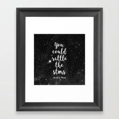 Rattle the Stars Framed Art Print