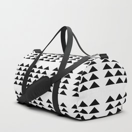 Tribal Triangles in White and Black Duffle Bag