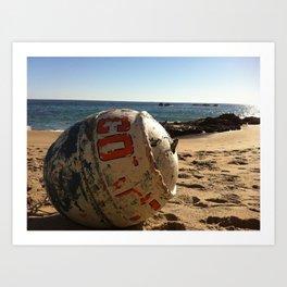 Point Dume Beach Buoy Art Print