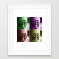 starbucks Framed Art Prints featuring Starbucks  by Chris Thaxter