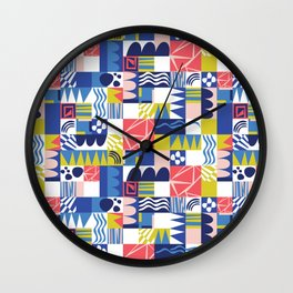 Geometric Playground Wall Clock