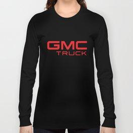 Black Truck Auto SUV Motor Sports Red GMC TRUCK Gildan trucker Long Sleeve T-shirt