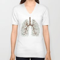 breathe V-neck T-shirts featuring Breathe! by Marcelo Jiménez