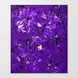 Violet Chaos Canvas Print