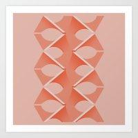 Concrete Vertebrae Art Print