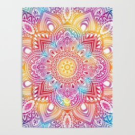 Madala Ombre Colorful Poster