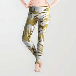Golden palms Leggings