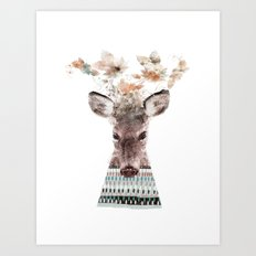 in nature deer Art Print