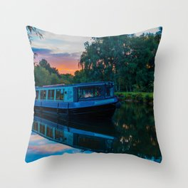 Moored on the Marina Throw Pillow