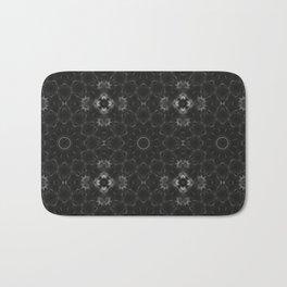 Black Floral Pattern Bath Mat