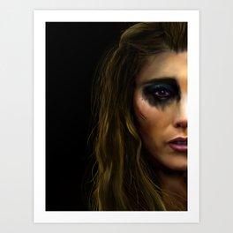 Anya painting - CW's The 100 Art Print