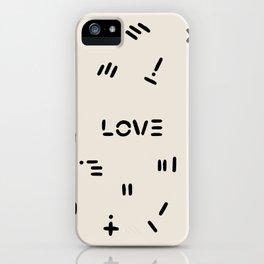 Love & Pattern iPhone Case