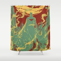 gotham Shower Curtains featuring Gotham Knight by Hai-ning