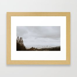 Minimal Portland Framed Art Print
