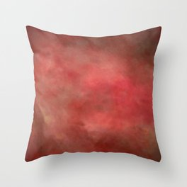 Abstract Watercolor Gradient Blend 2 Deep Red and Yellow Throw Pillow
